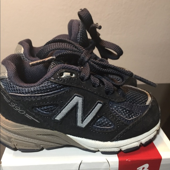 huge selection of 22a83 ca6a9 Navy Blue New Balance 990s boys toddler size 5